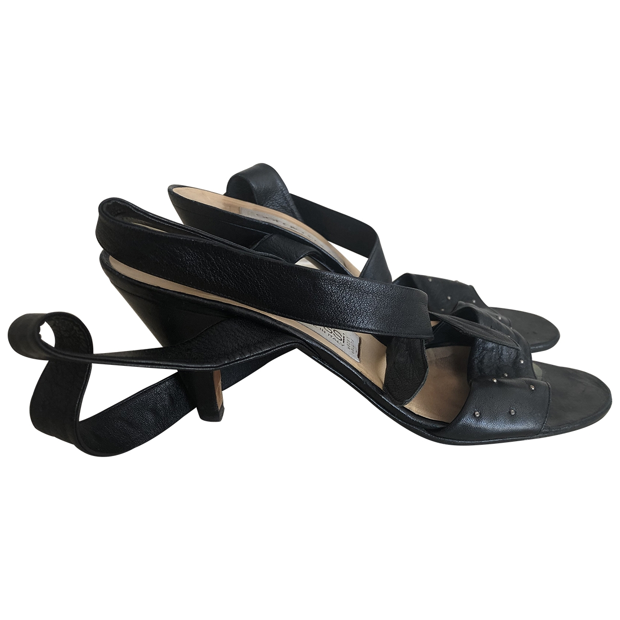 Sergio Rossi \N Black Leather Heels for Women 39 EU