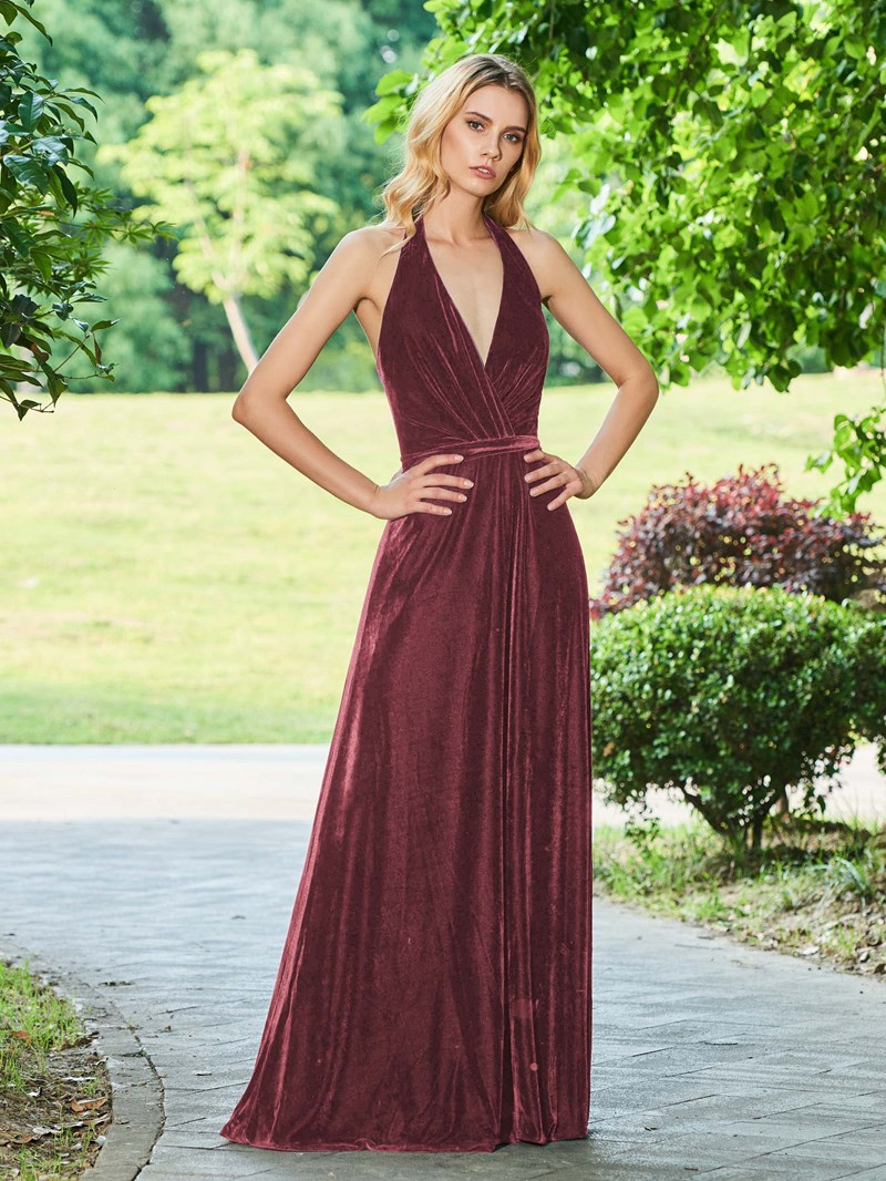 Ericdress A Line Halter Backless Evening Dress