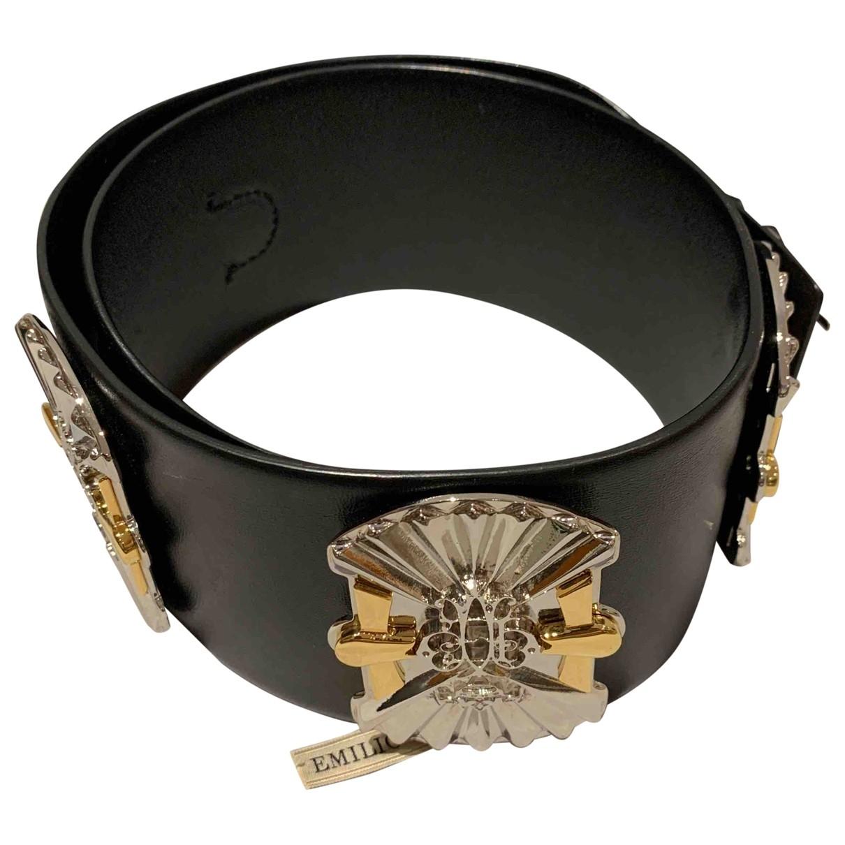 Emilio Pucci \N Black Leather belt for Women S International