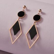 1pair Geometric Shaped Drop Earrings