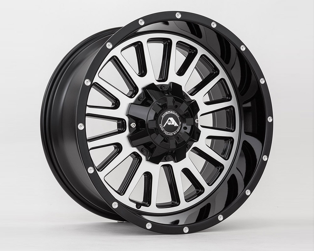 American Off-Road A10520A0550-24BMF A105 Black Machined Wheel 20x10 5x150 -24mm