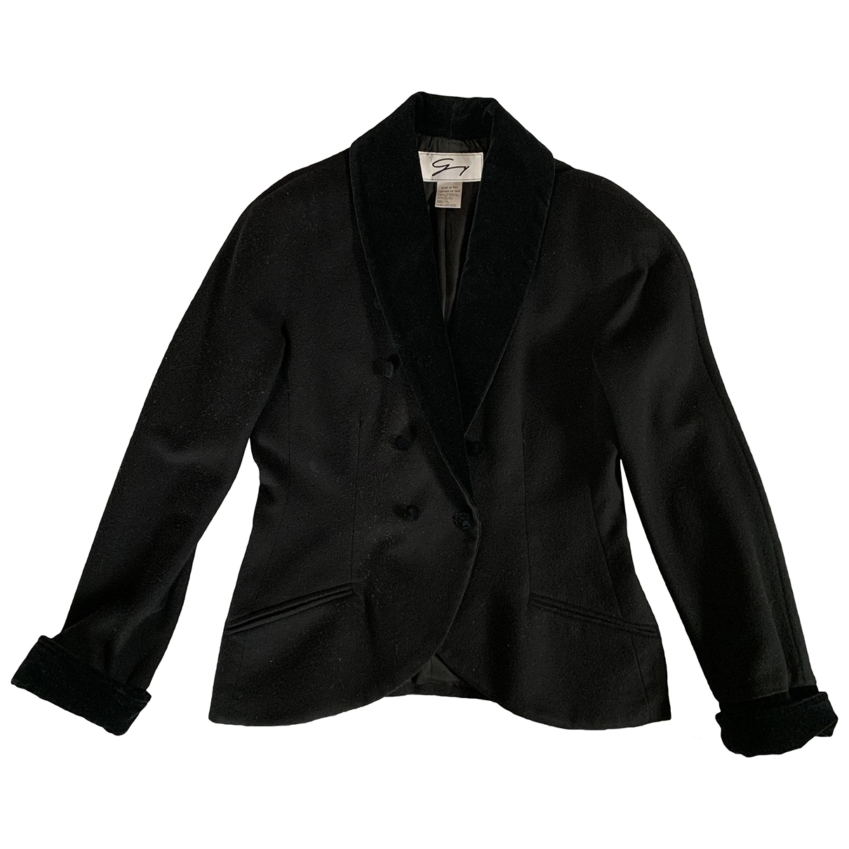 Genny \N Black Wool jacket for Women 42 IT