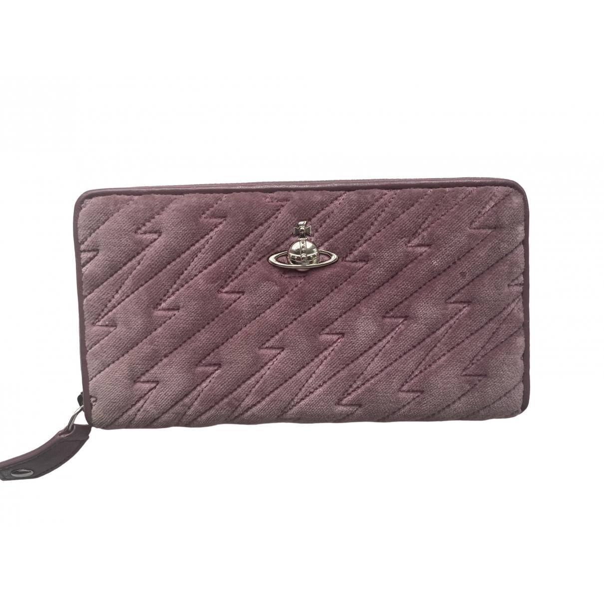 Vivienne Westwood \N Purple Velvet wallet for Women \N