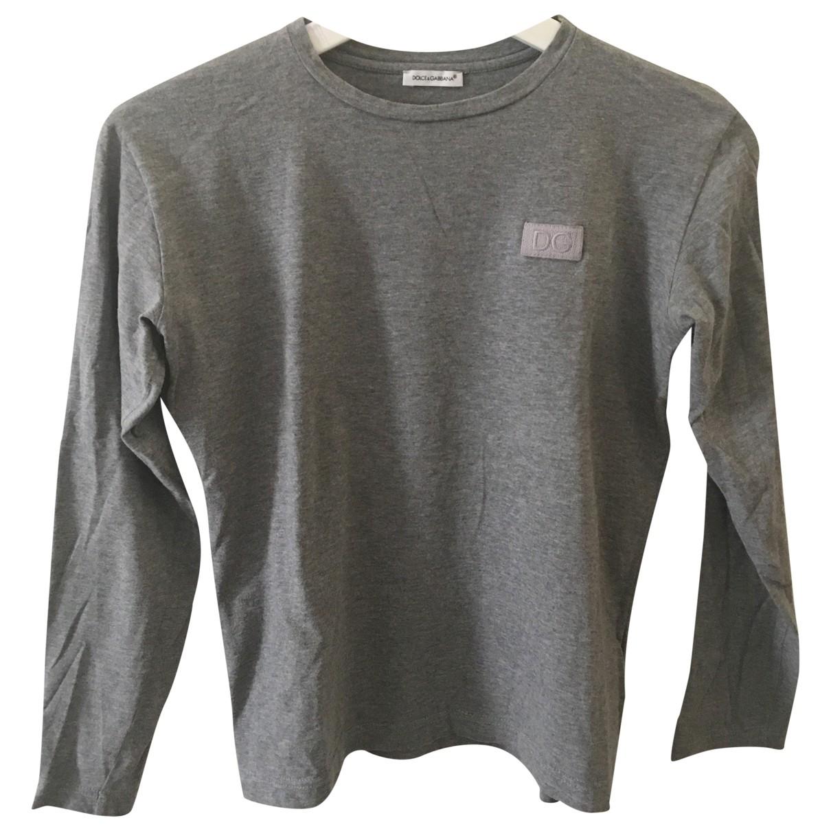 Dolce & Gabbana \N Grey Cotton  top for Kids 16 years - M UK