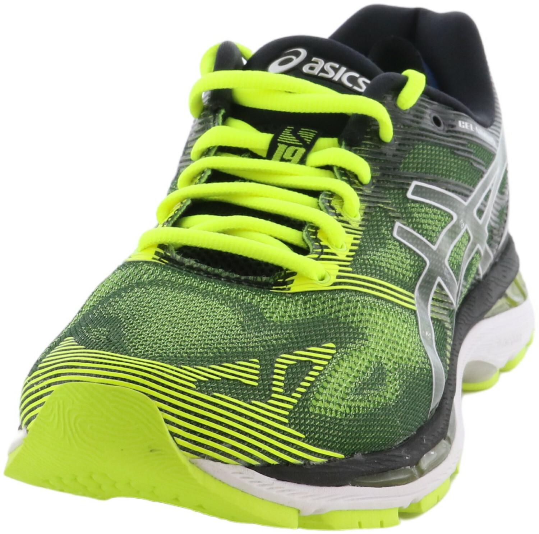Asics Men's Gel-Nimbus 19 Black / Safety Yellow Silver Ankle-High Running - 7M