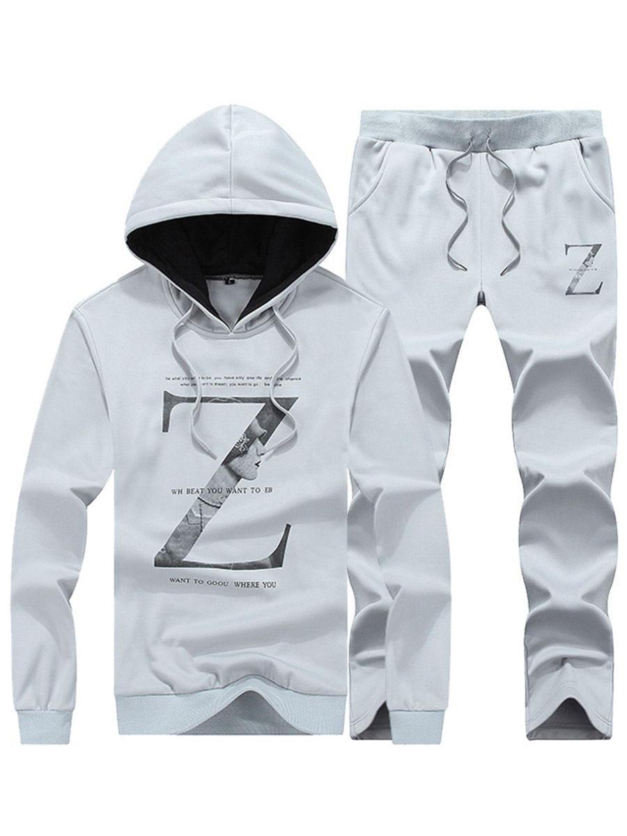 Letter Casual Style Loose Model Men's Casual Suits