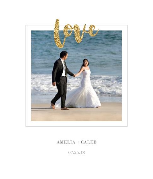 Love Framed Canvas Print, Black, 20x24, Home Décor -Love Glitter