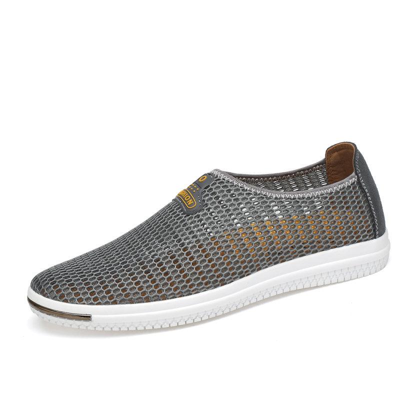Men Mesh Super Breathable Slip On Casual Shoes