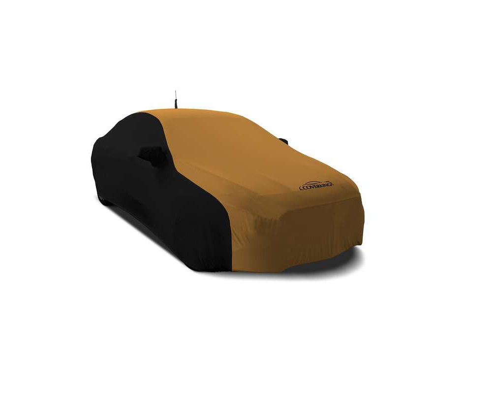 Coverking CVC2SS283MA9412 CVC2SS283 Satin Stretch 2-Tone Black Sides Hertz Gold Center Custom Car Cover Mazda MX-5 Miata 2016-2021
