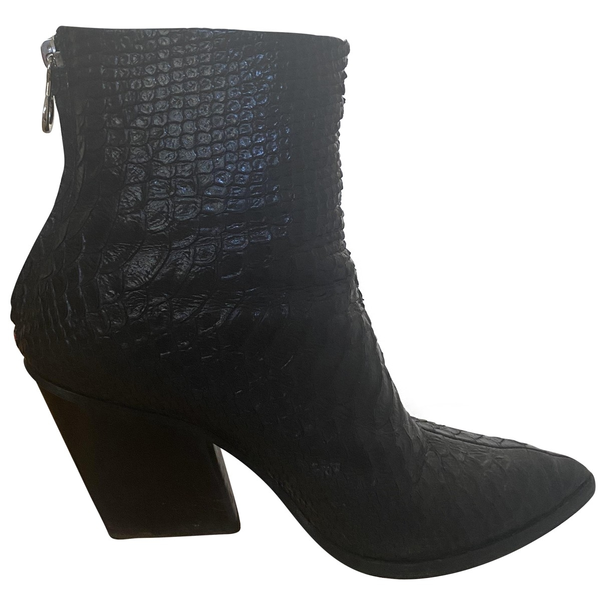 Aeyde \N Black Leather Ankle boots for Women 38 EU