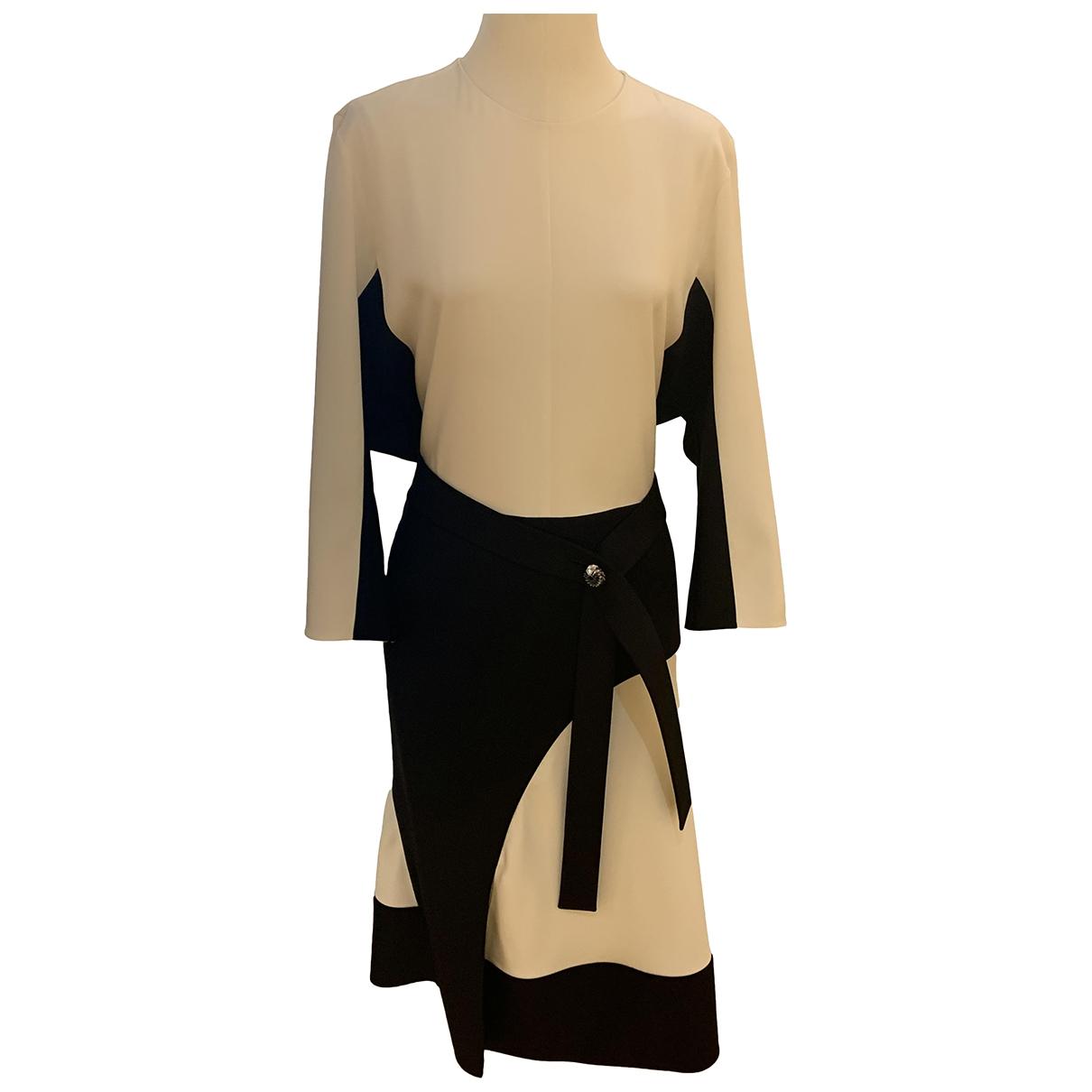 Louis Vuitton \N White Silk dress for Women 42 FR