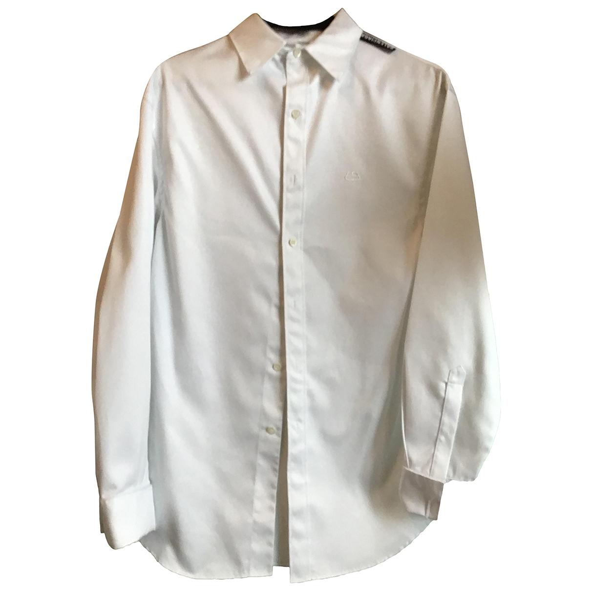 Balenciaga \N White Cotton Shirts for Men 39 EU (tour de cou / collar)