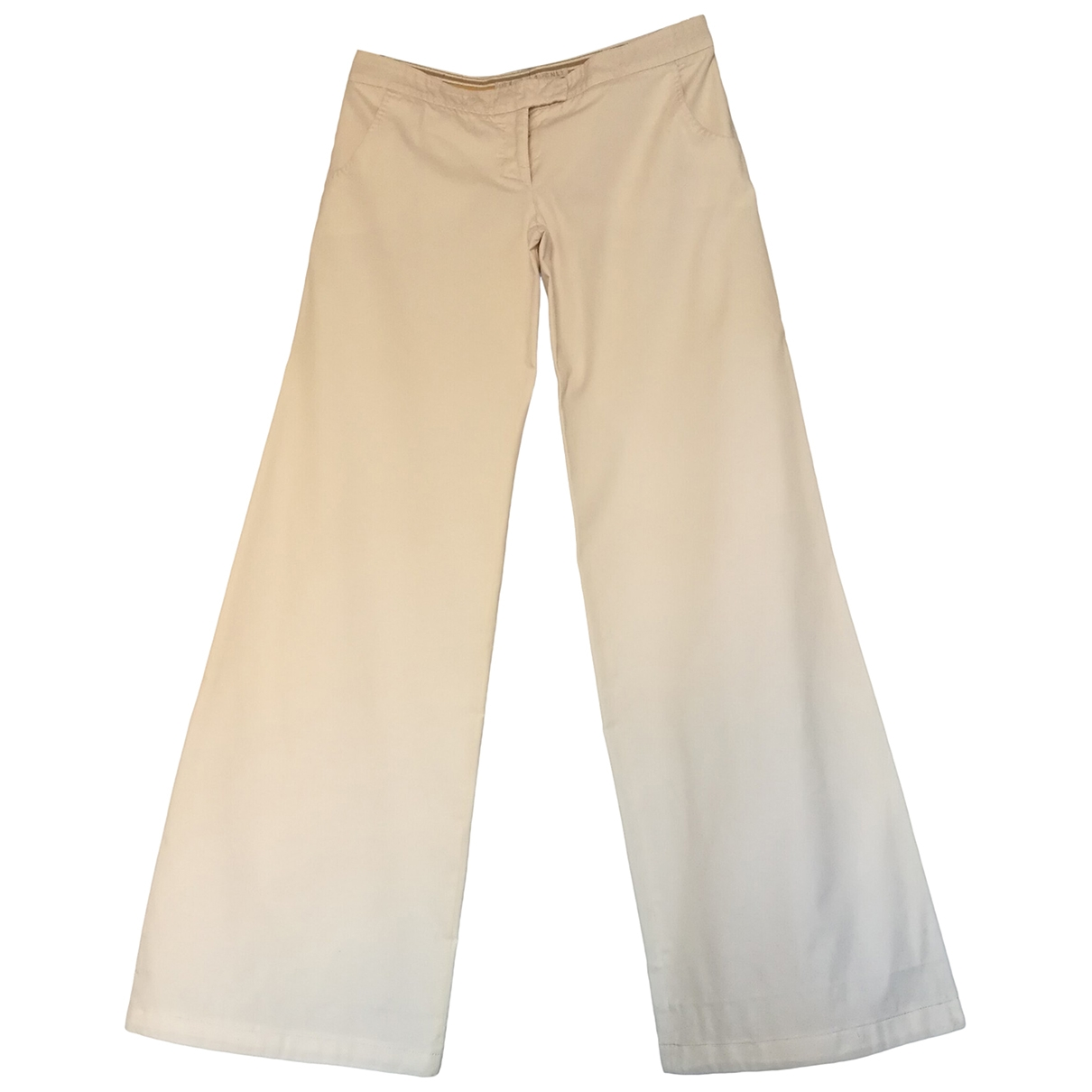 Stella Mccartney \N White Cotton Trousers for Women 40 IT