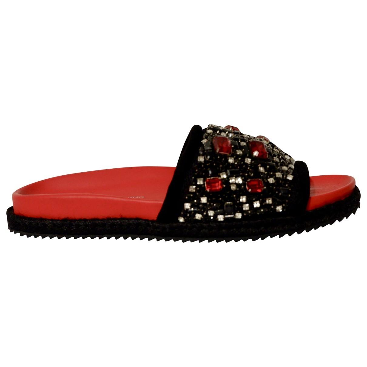 Ermanno Scervino \N Red Suede Sandals for Women 41 EU
