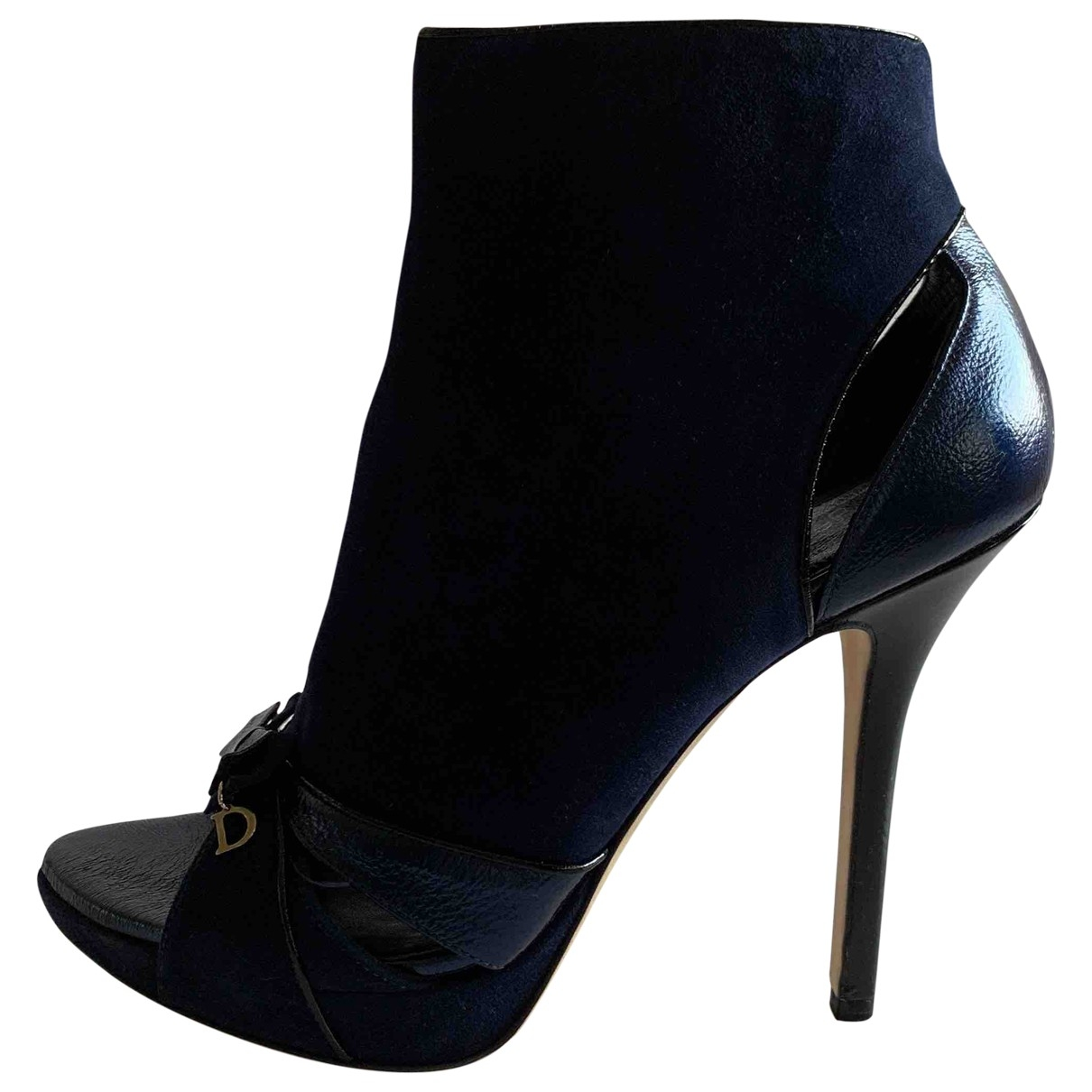 Dior \N Blue Suede Ankle boots for Women 38 EU