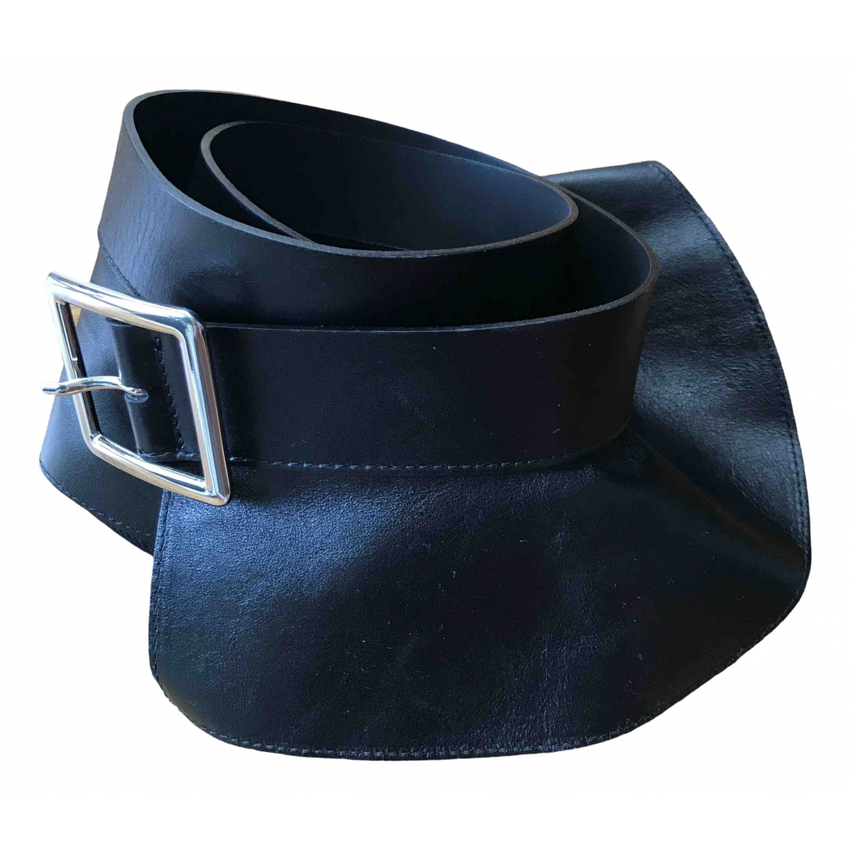 Max & Co \N Black Leather belt for Women S International