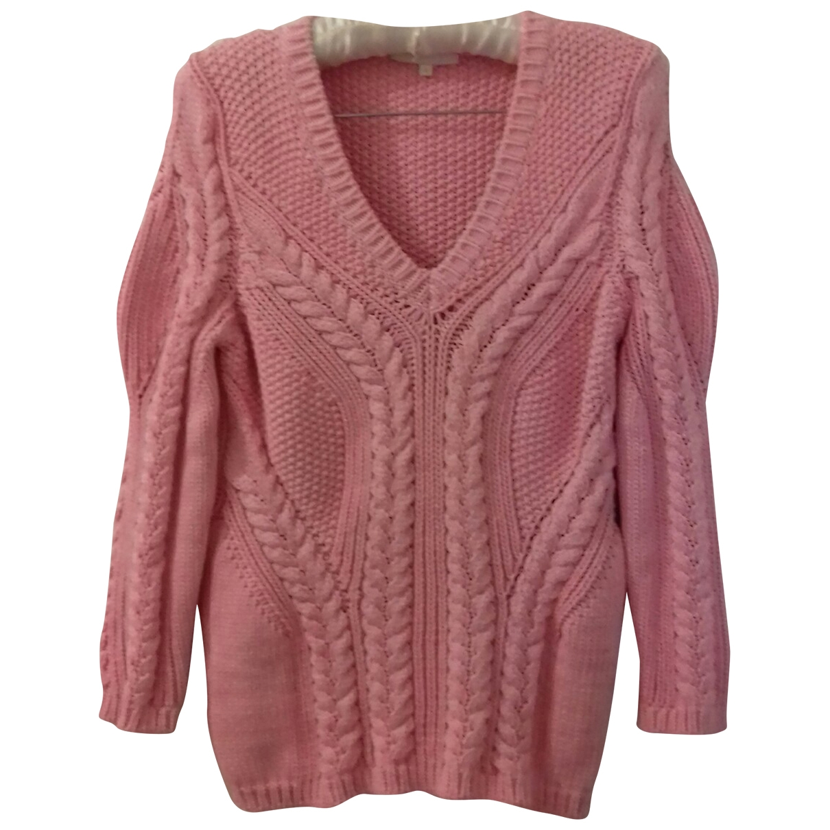 Maje \N Pink Cotton Knitwear for Women 3 0-5