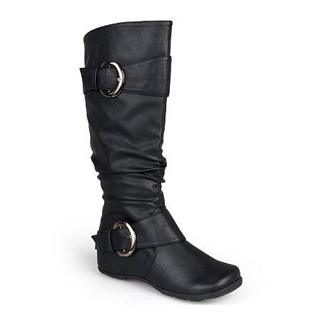 Journee Collection Paris Extra Wide Calf Boots, 9 Medium, Black