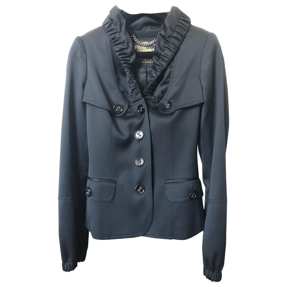 Burberry \N Black Wool jacket for Women 38 IT
