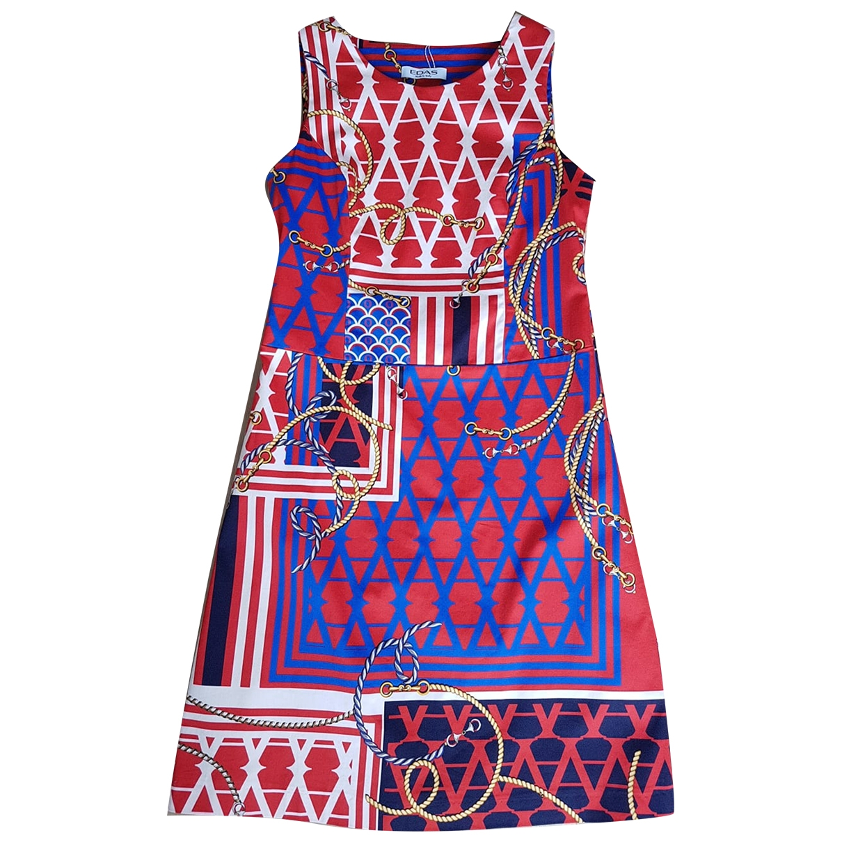 Non Signé / Unsigned \N Red Cotton dress for Women 44 IT