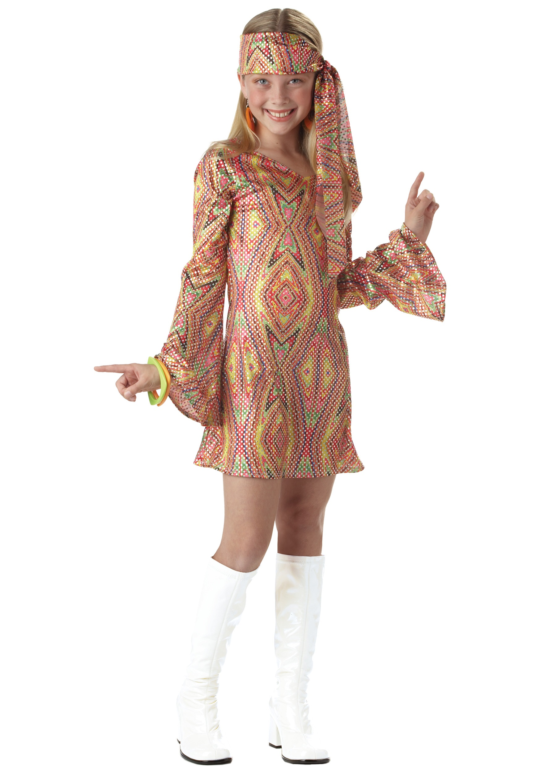 Disco Girl Kids Costume