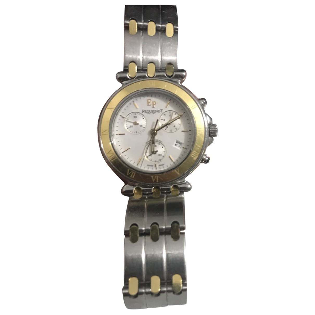 Pequignet \N Silver Gold plated watch for Men \N