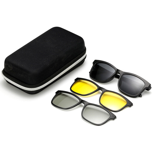 Magnetic Mirrors Tr90 Polarized Sunglasses Men And Women Driving Night Vision Goggles To Watch 3d TV Glasses