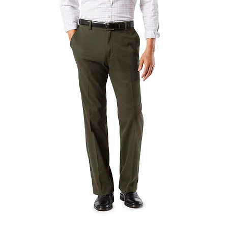 Dockers Men's Classic Fit Easy Khaki with Stretch Pants D3, 33 30, Green