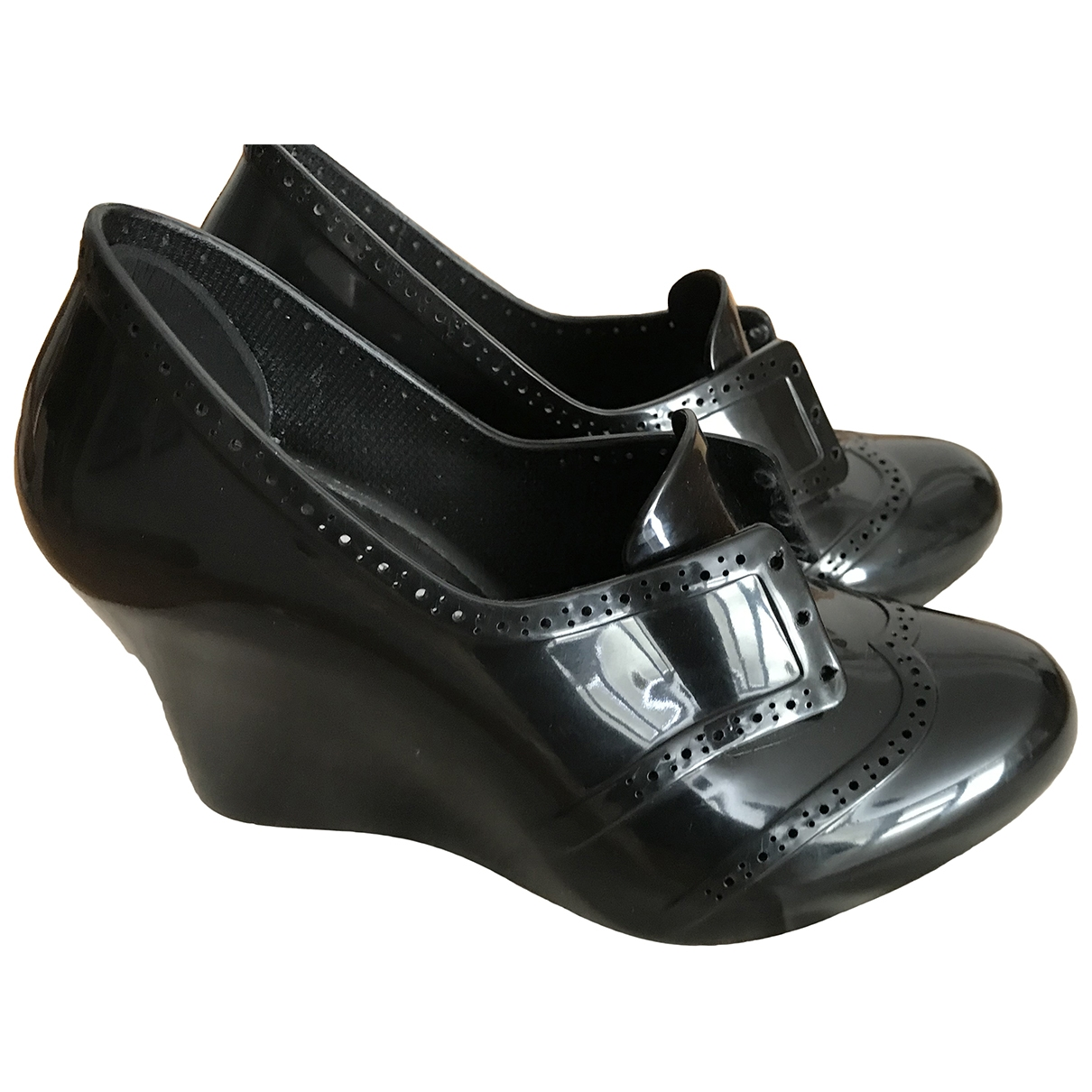 Melissa \N Black Patent leather Heels for Women 38 EU