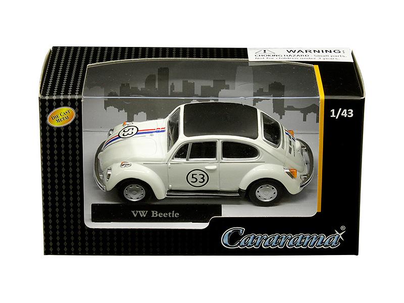 Volkswagen Beetle Racing 53 1/43 Diecast Model Car by Cararama