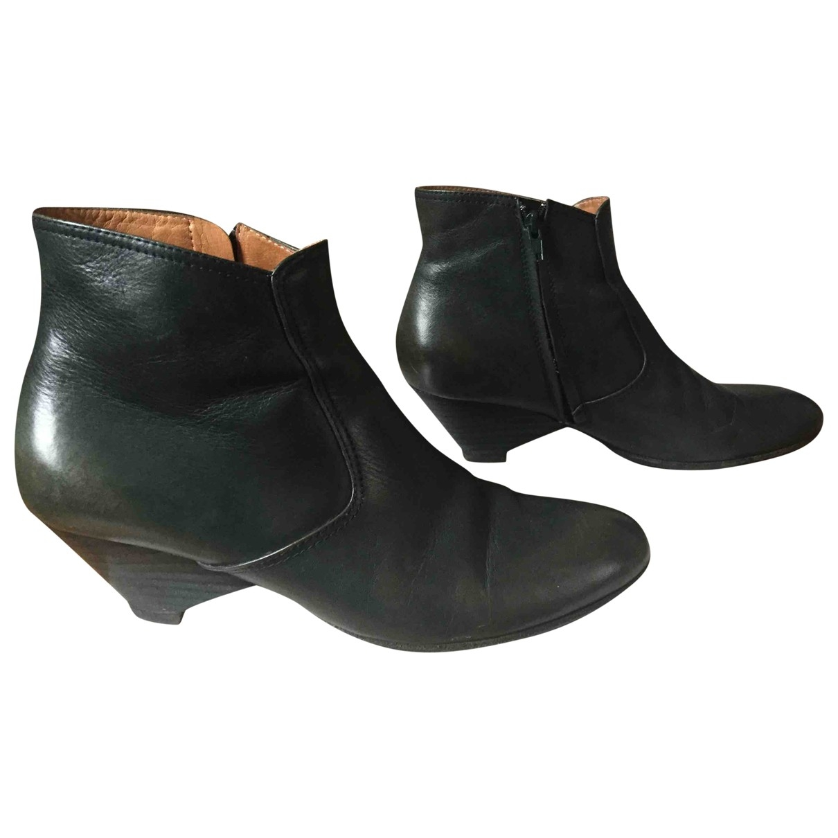 Maison Martin Margiela \N Green Leather Ankle boots for Women 37 EU