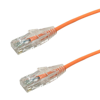 Cat6 UTP Ultra-Thin Patch Cable - Orange - 6ft