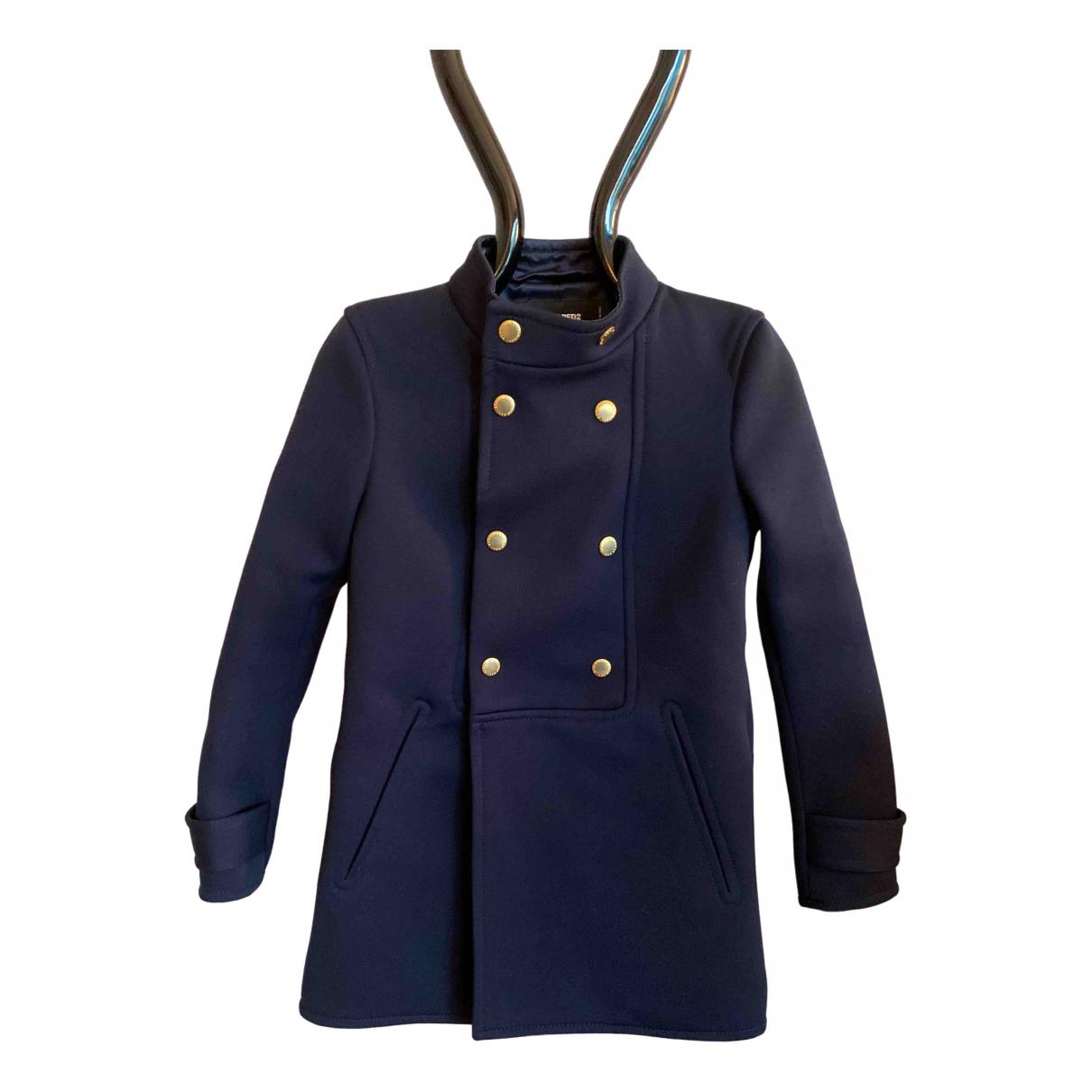 Dsquared2 \N Blue Wool coat for Women 40 IT
