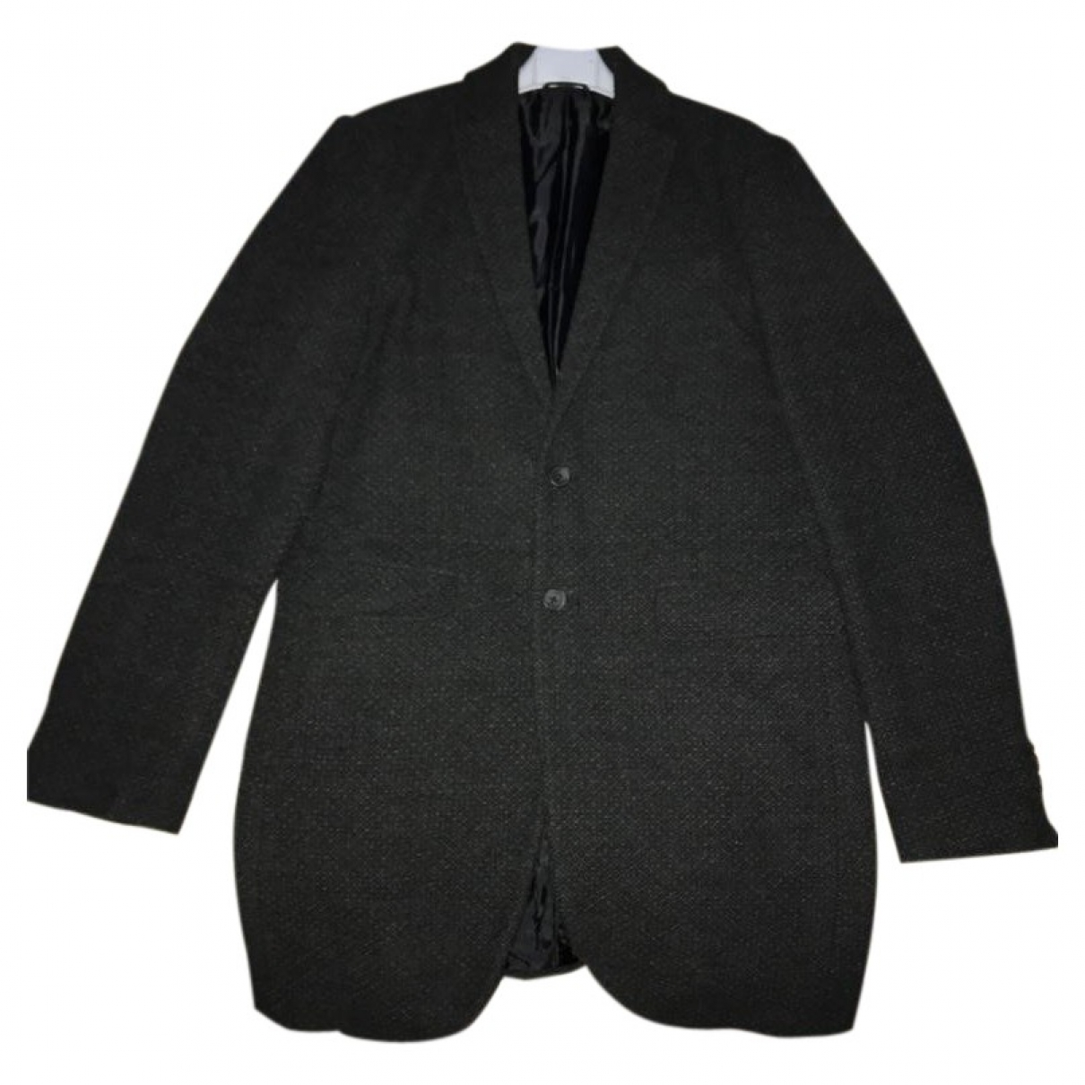 Non Signé / Unsigned \N Anthracite coat  for Men L International