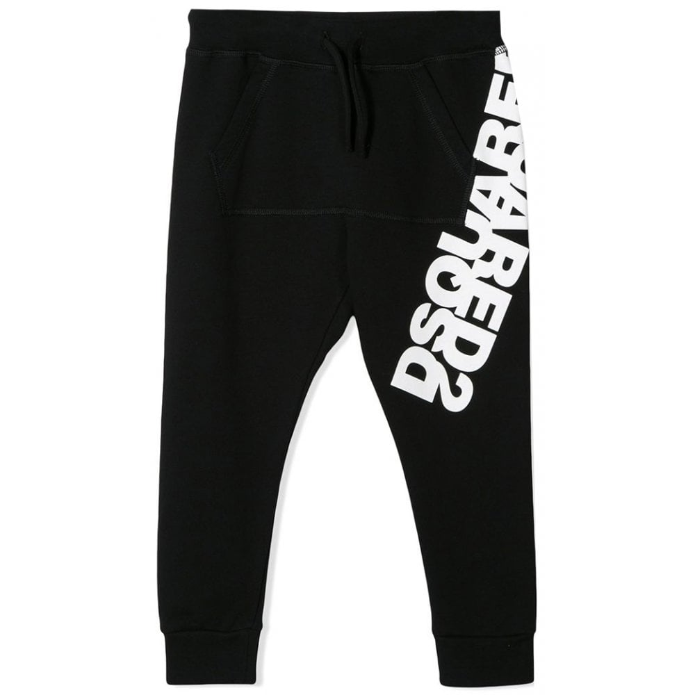 Dsquared2 Logo Joggers Colour: BLACK, Size: 16 YEARS
