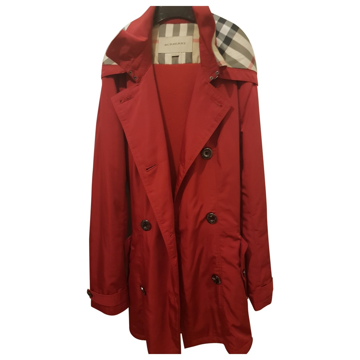 Burberry \N Red Trench coat for Women 6 UK