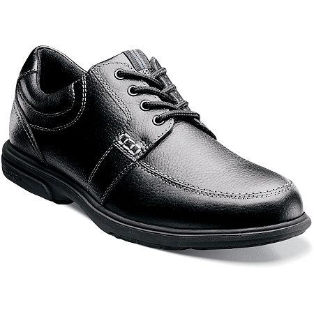 Nunn Bush Mens Carlin Moc Toe Casual Oxford Shoes, 8 1/2 Medium, Black