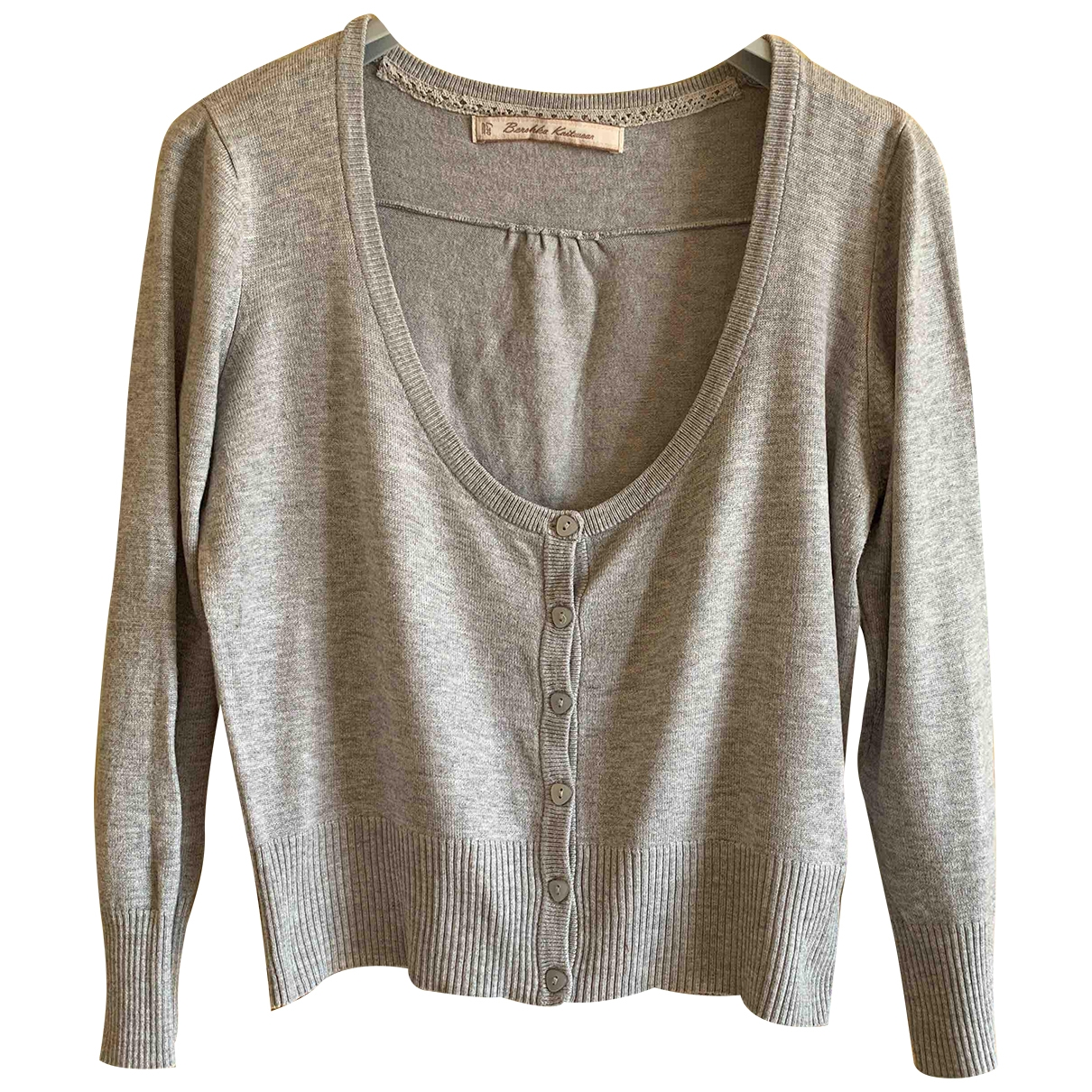 Non Signé / Unsigned \N Grey Cotton  top for Women 44 IT