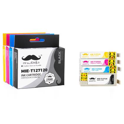 Compatible Epson WorkForce 635 Ink T127 Combo BK/C/M/Y - Moustache
