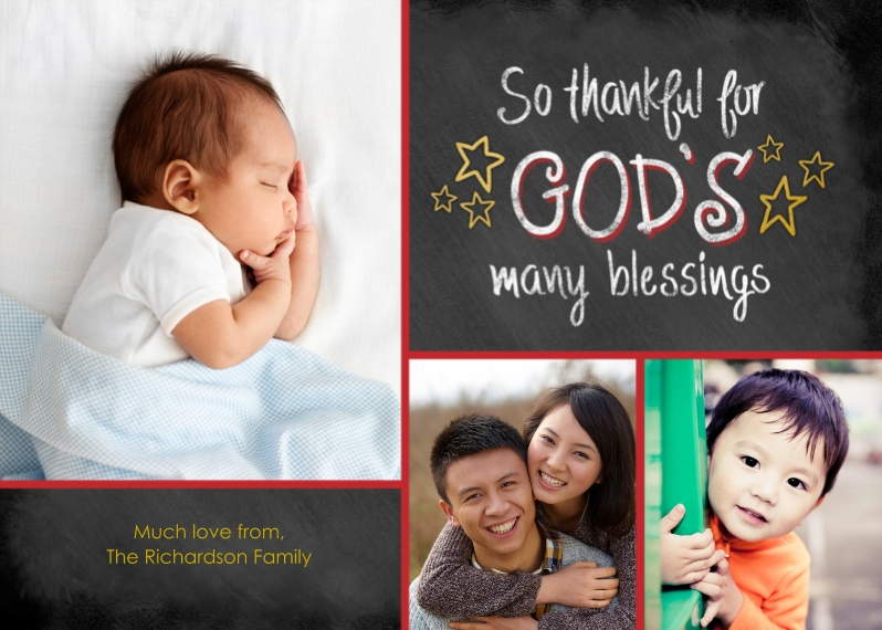 Religious Christmas Cards Flat Matte Photo Paper Cards with Envelopes, 5x7, Card & Stationery -God's Many Blessings