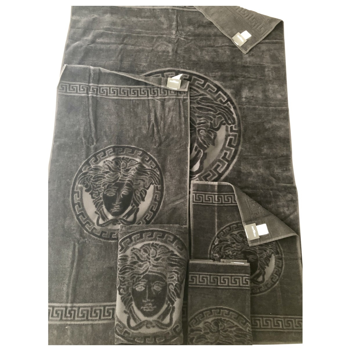 Versace \N Black Cotton Textiles for Life & Living \N