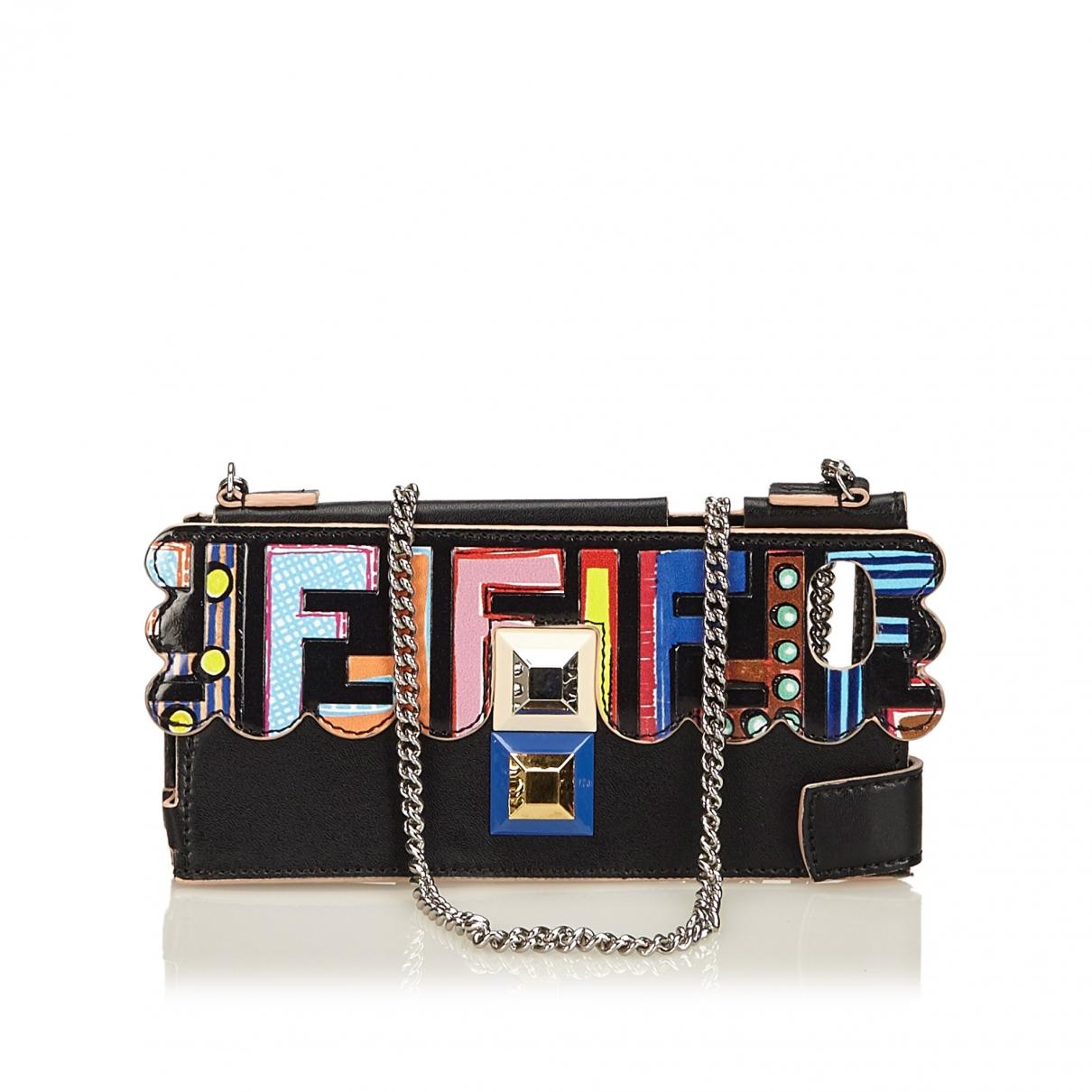 Fendi \N Black Leather Phone charms for Women \N