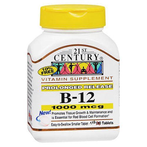 B12 Prolonged Release 110 Tabs by 21st Century