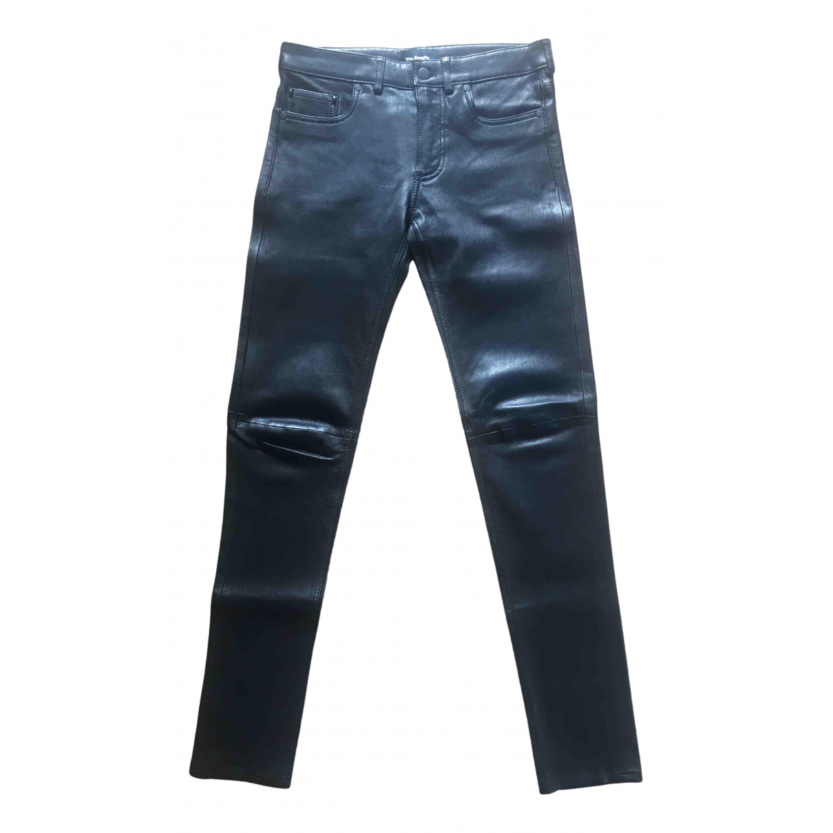 The Kooples \N Black Leather Trousers for Women 38 FR