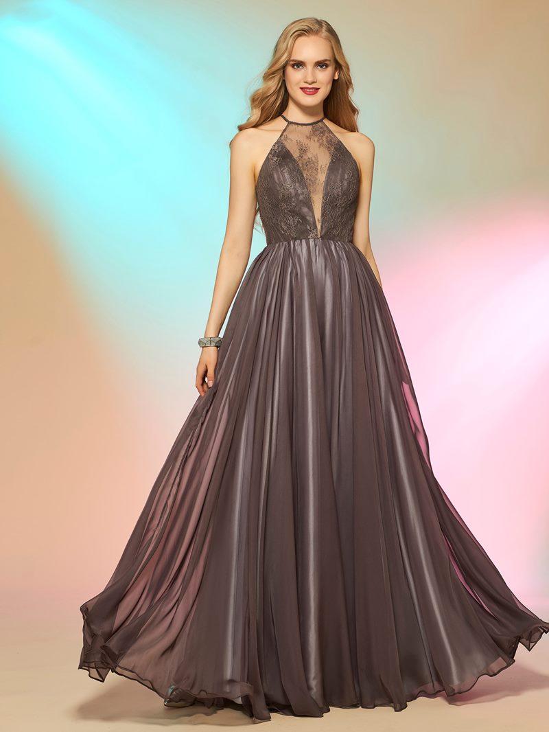 Ericdress Fancy A Line Halter Lace Floor Length Long Prom Dress