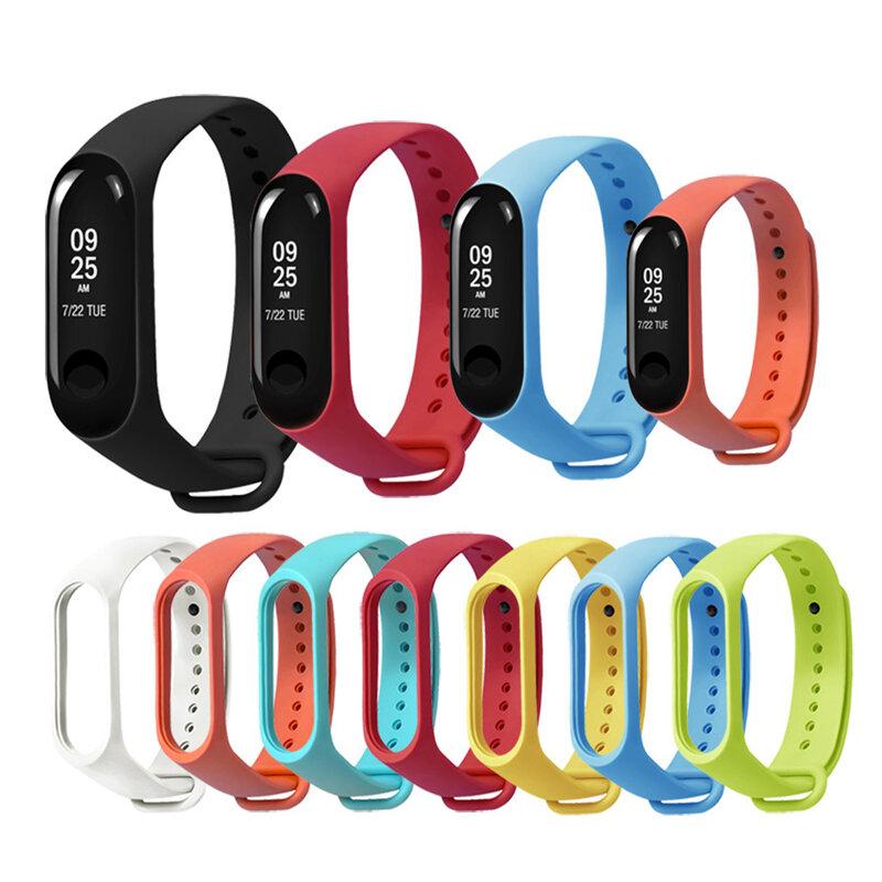 Replacement Silicone Sports Soft Wrist Strap Bracelet Wristband for XIAOMI Mi Band 3/4
