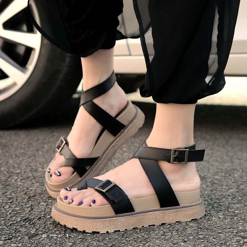 Ericdress Toe Ring Platform Buckle Casual Sandals