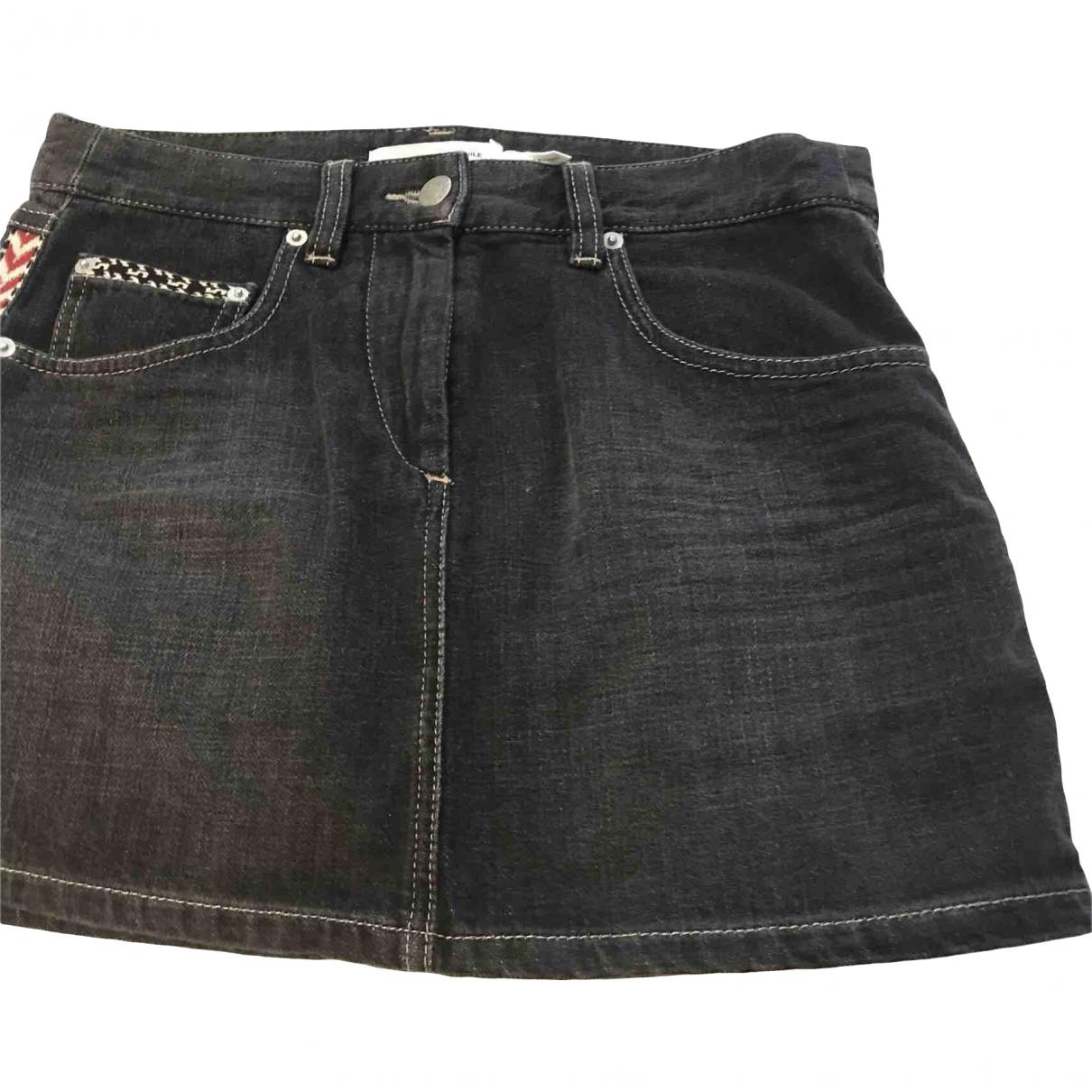 Isabel Marant Etoile \N Grey Denim - Jeans skirt for Women 36 FR
