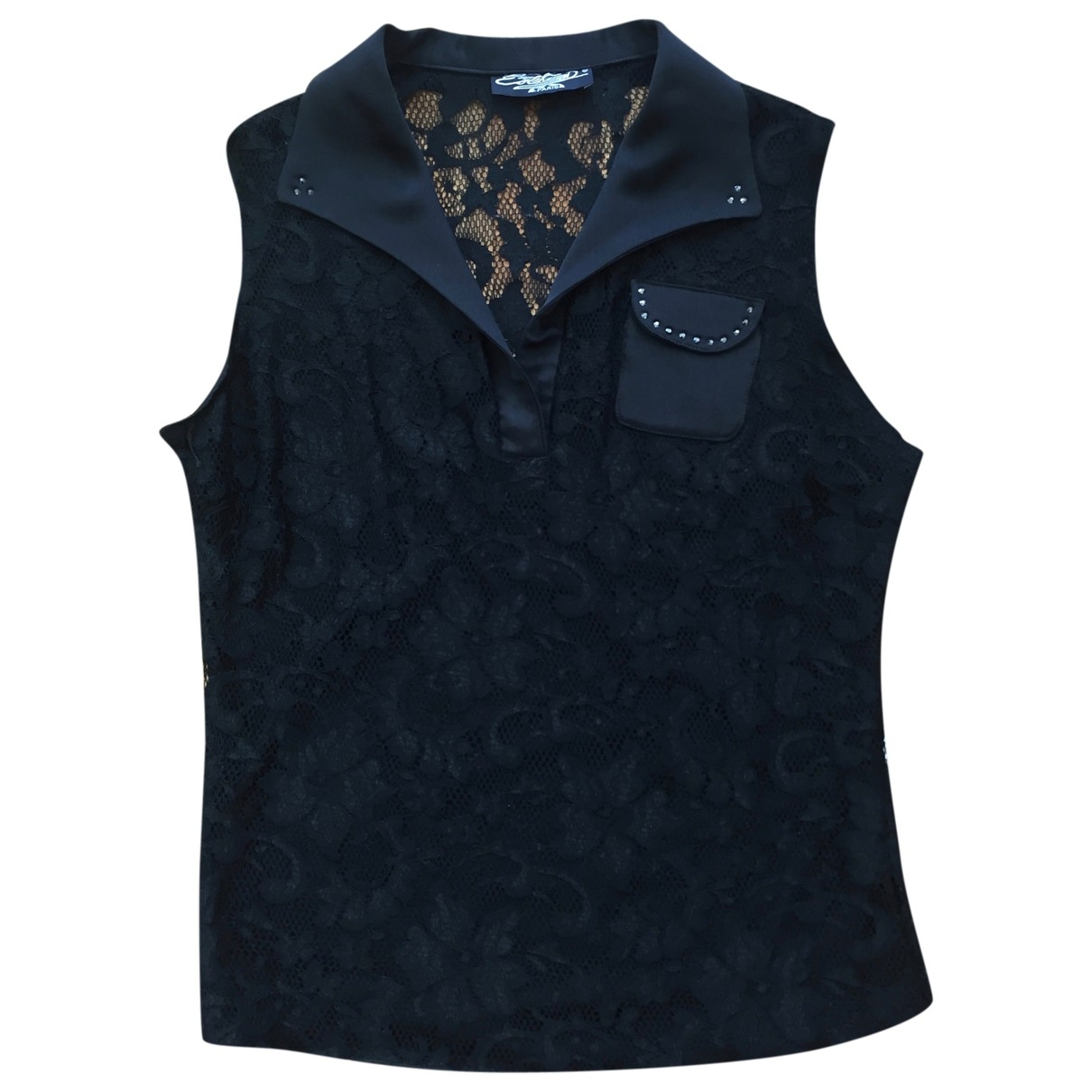 Non Signé / Unsigned \N Black Lace  top for Women 3 0-5