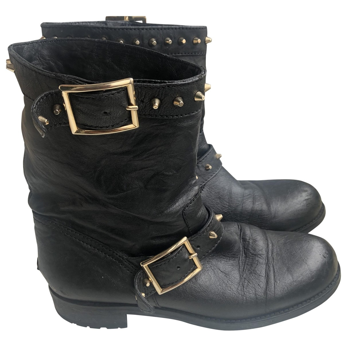Jimmy Choo \N Black Leather Boots for Women 39 EU